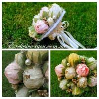 Свадебный букет невесты из конфет пионов (дублер)