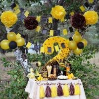 Кисточки желтые и коричневые (шоколадные)