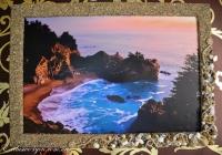 """Картина """"Море"""" (печать) с широкой морской рамой ручной работы"""