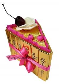 """Шоколадный кусочек торта """"Уголок"""". Сладкий мини тортик на подарок."""