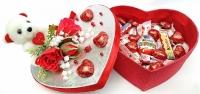 Сладкое сердце с мишкой ко дню влюбленных