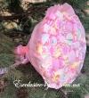 Розовый воздушный букет с маршмелоу и зефирок