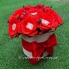 Букет из конфет красных роз в коробке