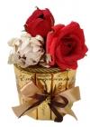Шоколадный торт с цветами. Сладкий мини тортик на подарок.