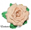 Бежевая роза-заколка из фома