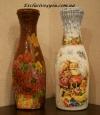 Украшение бутылки или вазы для цветов