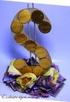 Шоколадный доллар на подарок мужчинам