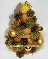 Новогодний топиарий. Блестящая золотая елочка.