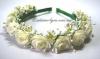 Тонкий ободок в нежно кремово-зеленом цвете