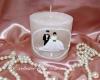 Толстая свадебная свеча ручной работы