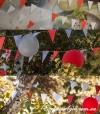 Растяжки-гирлянды флажки на прочной капроновой нитке - 23 метра