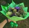 Школьный фруктовый зеленый букет