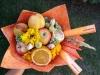 Школьный фруктовый желтый букет