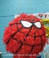 Красная пиньята круг в стиле человек паук