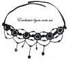 Ожерелье с бисера черного цвета