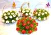 Букет красных тюльпанов из конфет