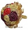Цветной свадебный букет ручной работы