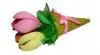 Мини-букет тюльпанов из 3-х цветков