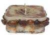 Маленькая свечка с кофе, морскими камушками и блестками