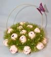 Букет розовых тюльпанов из конфет