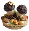 Кофейные грибочки в лесу №3 и 4