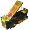 Шоколадная черно-золотая машина кабриолет с коньяком