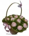 Букет нежных розовых тюльпанов из конфет