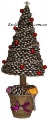 Новогодний топиарий. Ароматная елка с шишек