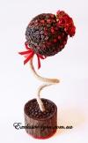 Ароматное кофейное дерево счастья с красными цветочками