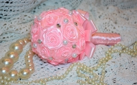 Свадебный розовый букет №2